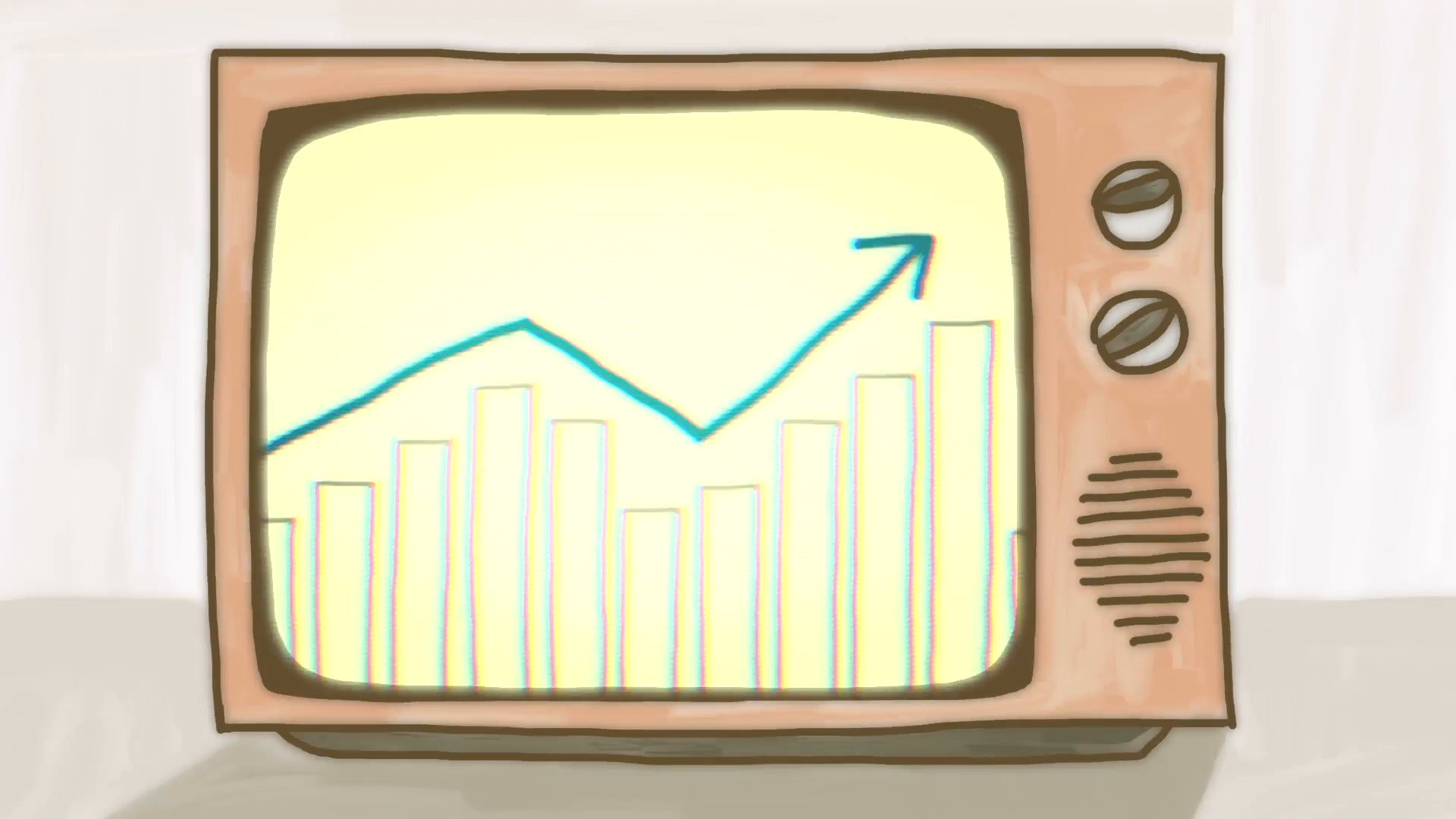 Drawn tv Seamless Growth infographic in TV