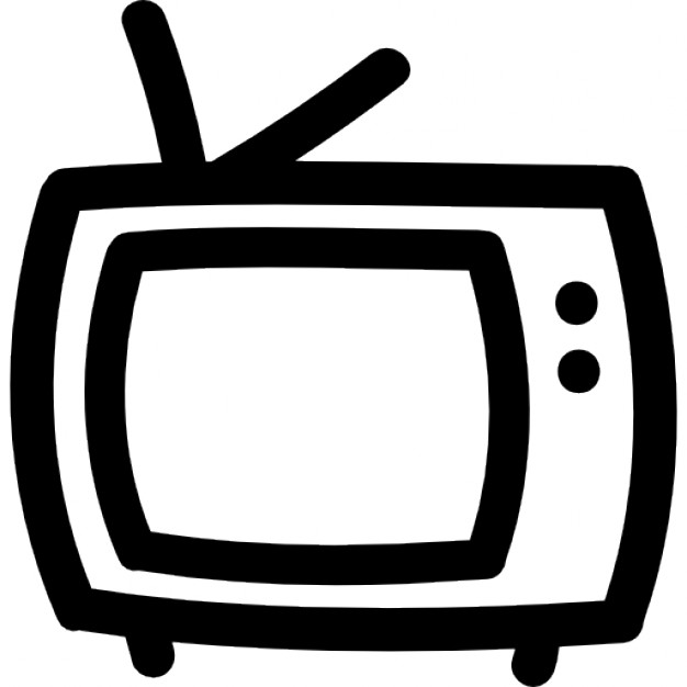 Drawn tv Tv drawn outline Icon Download
