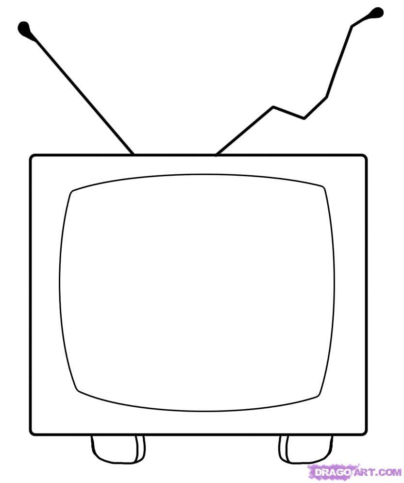 Drawn tv Cartoons how draw a tv