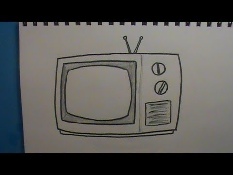 Drawn tv How Draw a How to