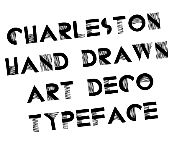 Drawn typeface Gabrielle – Charleston drawn hand