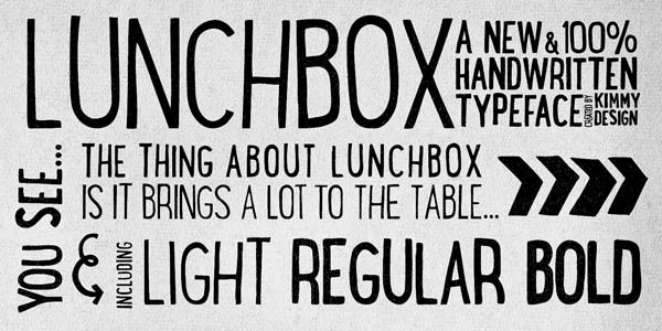 Drawn typeface Design Hand Lunchbox typeface Kimmy