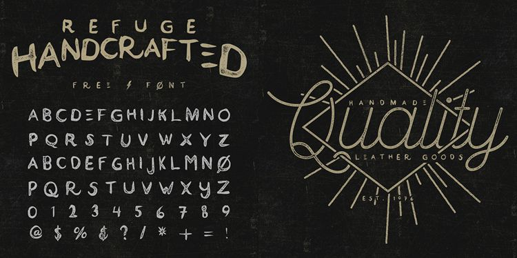 Drawn typeface Fonts Hand 20 and Beautiful
