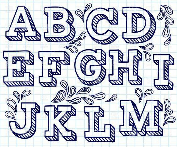 Drawn typeface 3d bubble letter On Design images more Pinterest