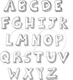 Drawn typeface 3d bubble letter 3D  For Letters Pinterest