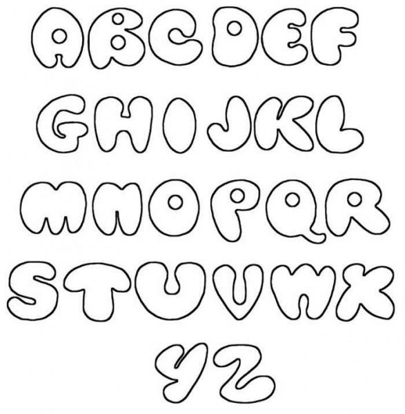Drawn typeface 3d bubble letter Alphabet Letters Z Fonts Stencils