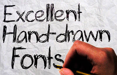 Drawn typeface Hongkiat Quality drawn Hand Fonts