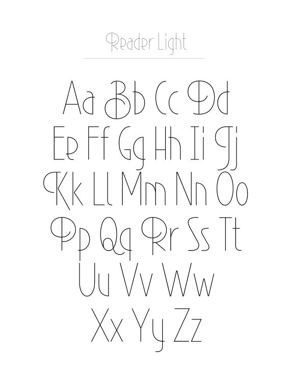 Drawn typeface abc letter different Best Fontfabric by ideas on