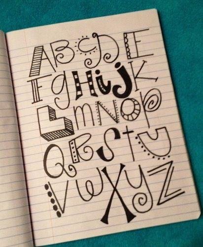 Drawn typeface amazing writing Ideas write alphabet fonts More