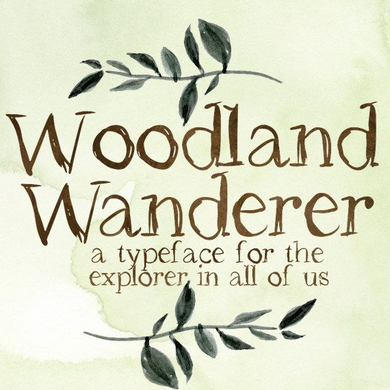 Drawn typeface artistic Drawn Font Typeface Hand Woodland