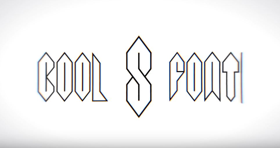 Drawn typeface awesome Form Font the Boing being