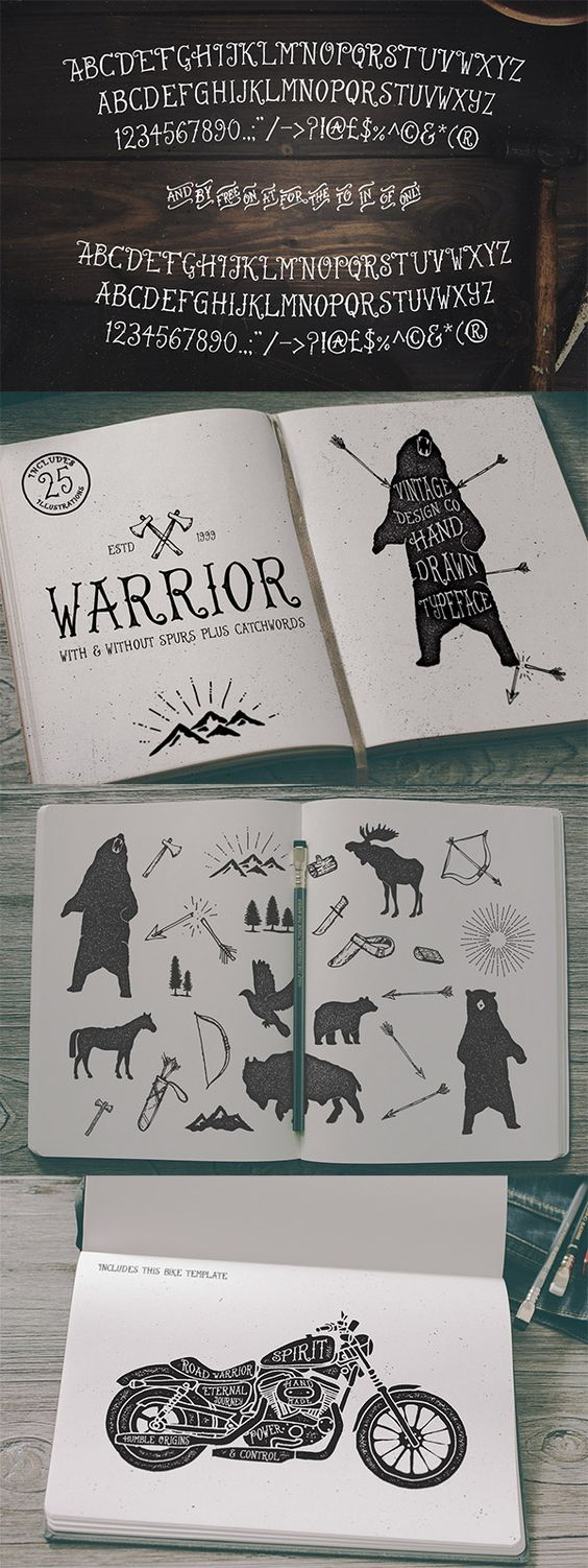 Drawn typeface awesome More Ian of Hand with