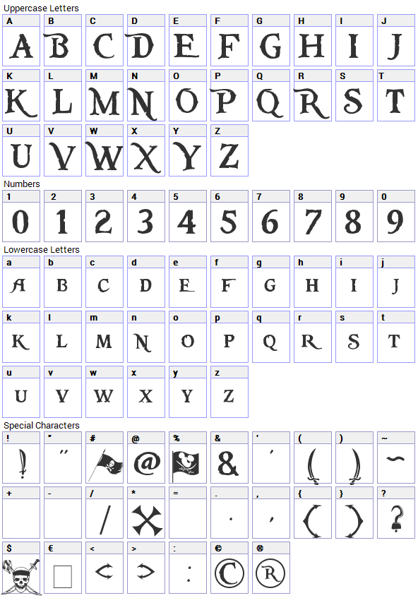 Drawn typeface caribbean Of Eight Font Eight of