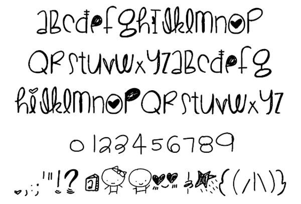 Drawn typeface cute Font Best 20 CuteLove Top