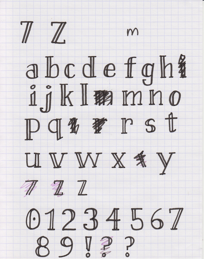 Drawn typeface easy Make using to Glyphs Redraw