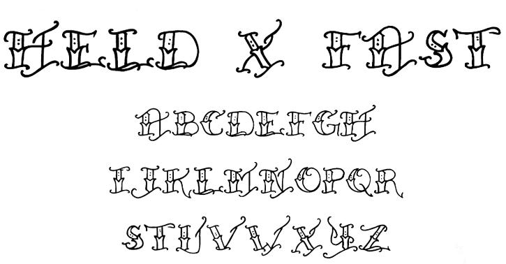 Drawn typeface fancy Specializes of Font Step Beware