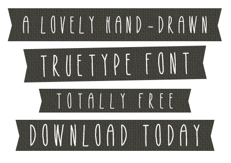 Drawn typeface freehand #Font: Drawn Hand Fonts Drawn