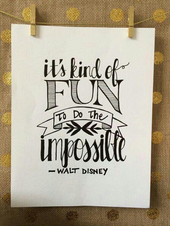Drawn quote creative art Para me iniciar post Disney