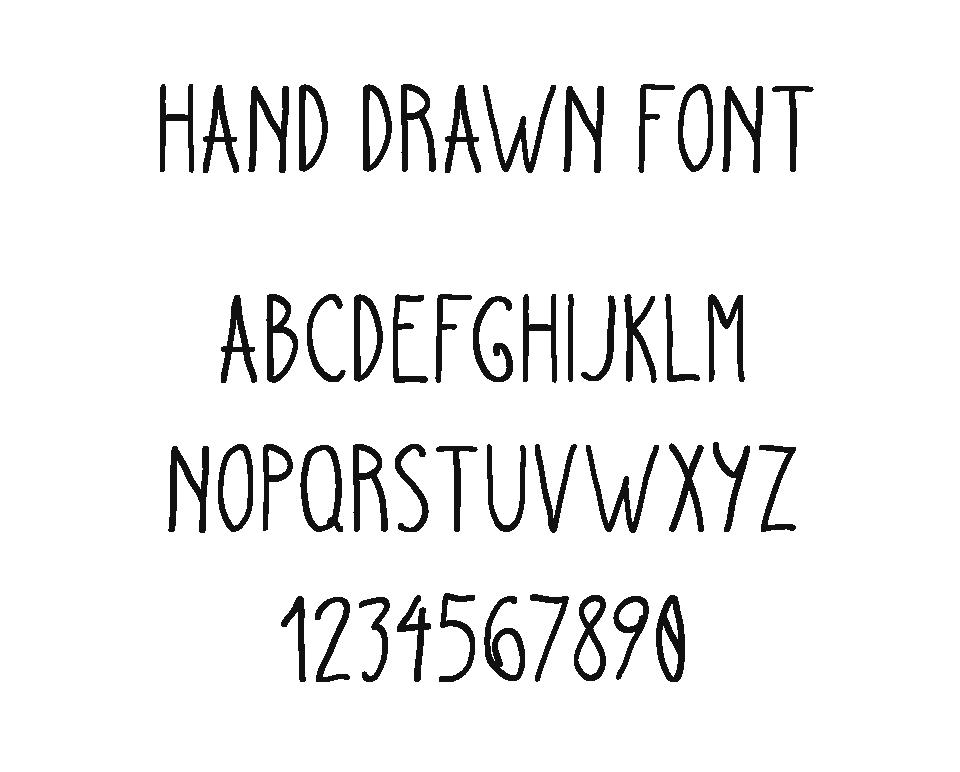 Drawn typeface hand drawn Hand  Font Drawn