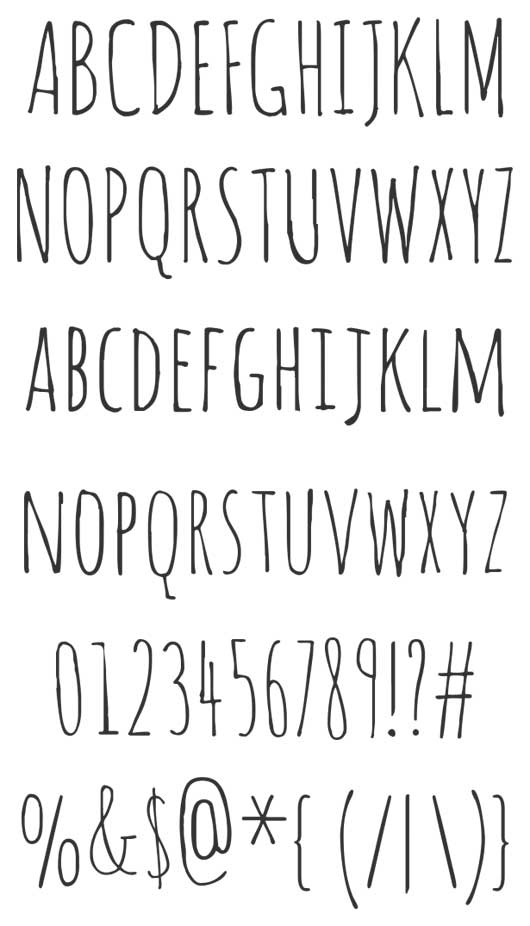 Drawn typeface hand drawn The Invitation Fonts a drawn