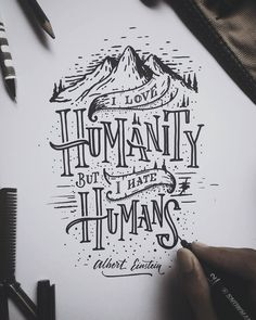 Drawn quote typography art And illustration Typography  would