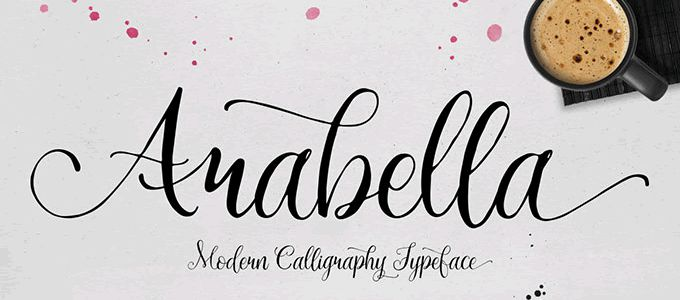 Drawn typeface handwriting Font and 20 Arabella Hand