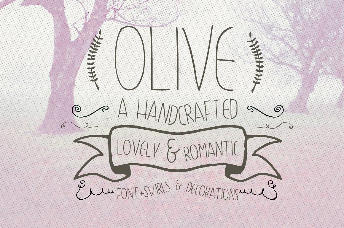 Drawn typeface hipsteria Project Your Olive Design Hand