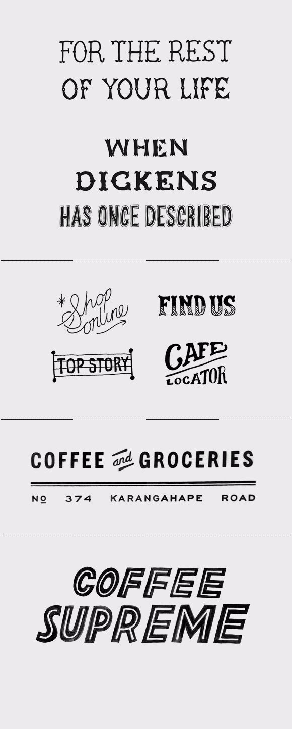 Drawn typeface hipsteria Images ILLUSTRATION: Hand HAND Typography