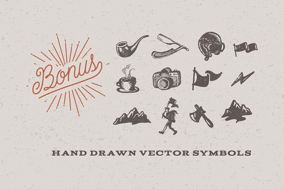 Drawn typeface hipsteria  Creative Hipsteria Fonts ~