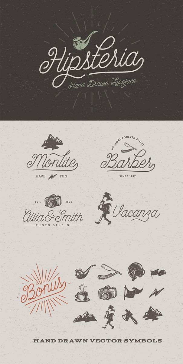 Drawn typeface hipsteria Pinterest Typography Hipsteria best Typeface