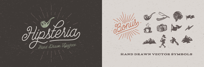 Drawn typeface hipsteria Hipsteria Fonts DesignerBlogs With Come