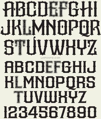 Drawn typeface manly / LHF candy Fonts images