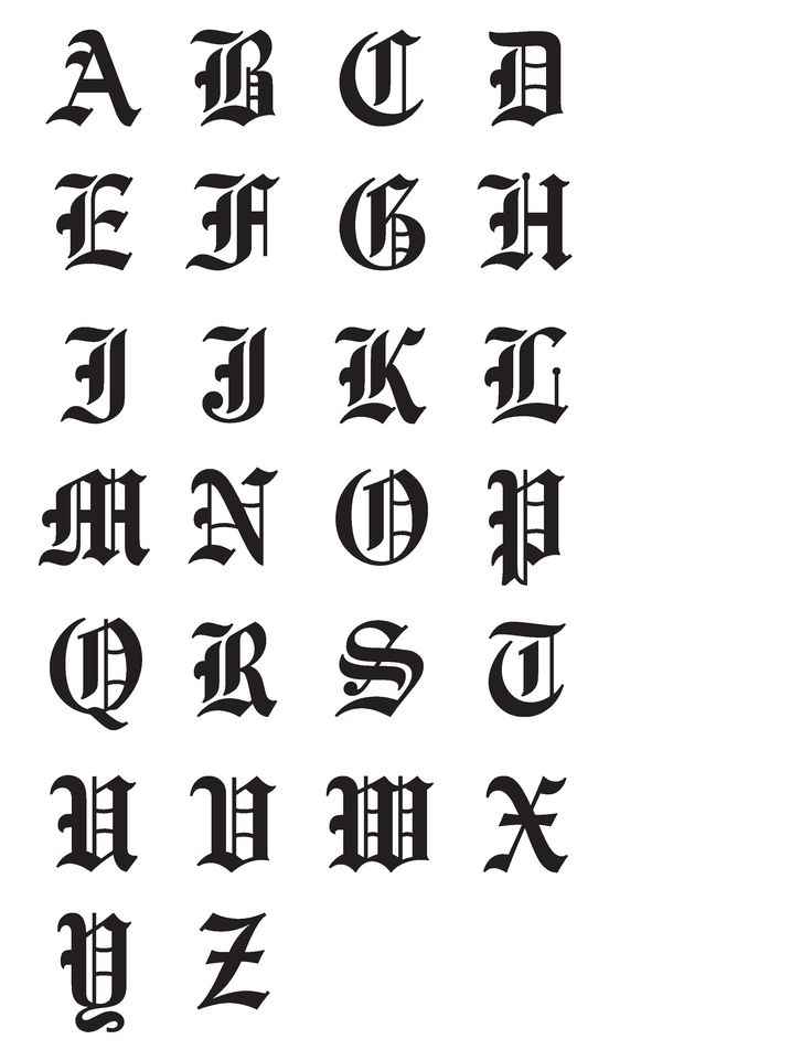 Drawn typeface old english A ideas for find chart