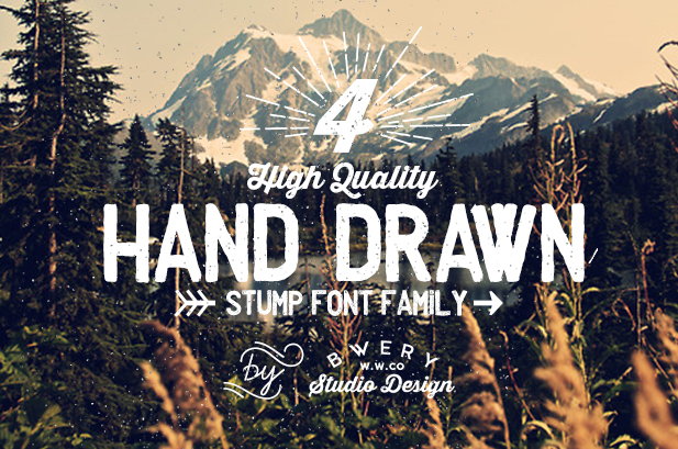 Drawn typeface serious Decorative and JP choice Typeface
