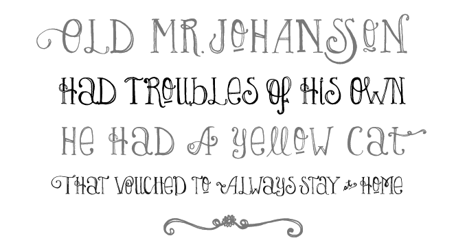 Drawn typeface whimsical MyFonts Lady font Fonts sample