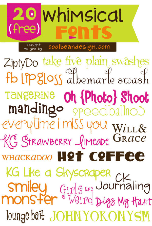 Drawn typeface whimsical Fonts Fonts 20 free FREE