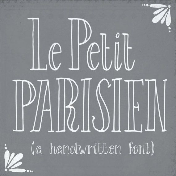 Drawn typeface whimsical Petit Pinterest best // Hand