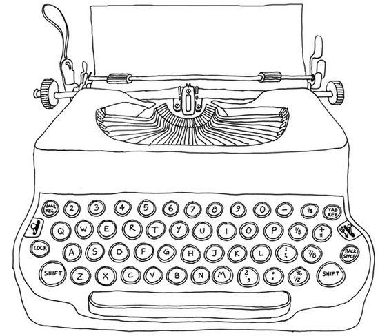 Drawn typewriter — Typewriter Illustration Crafthubs —