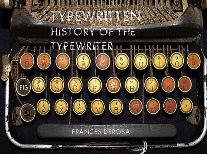 Drawn typewriter Literature History of History the