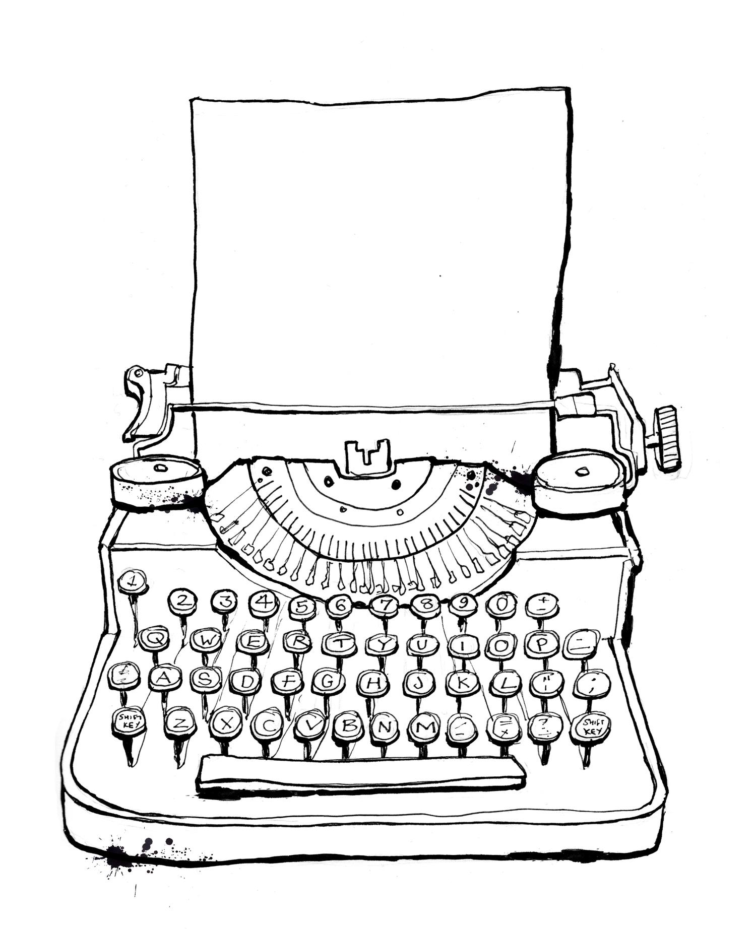Drawn typewriter — Director  / next