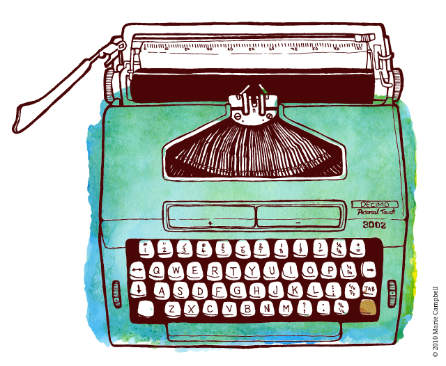 Drawn typewriter first Illustration Crafthubs Royal Typewriter Crafthubs