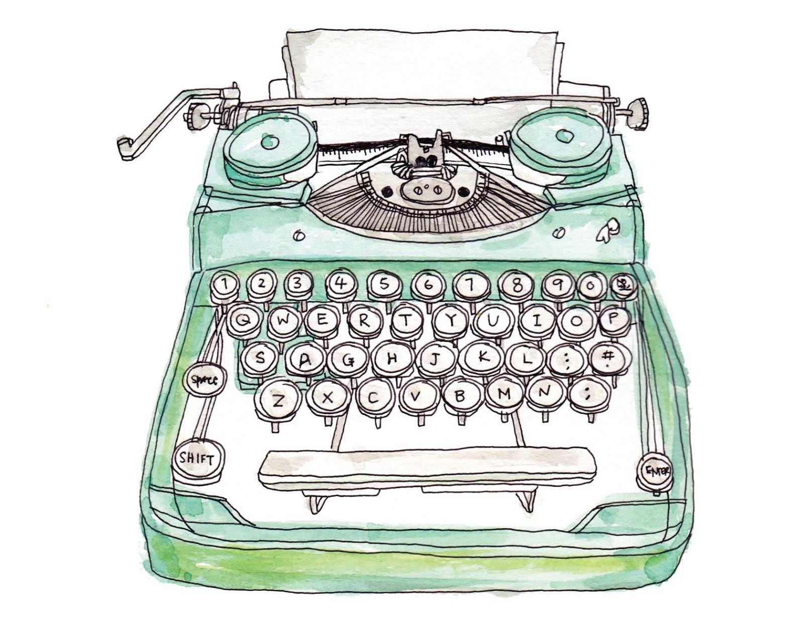 Drawn typewriter Illustrations about Typewriters this illustrations