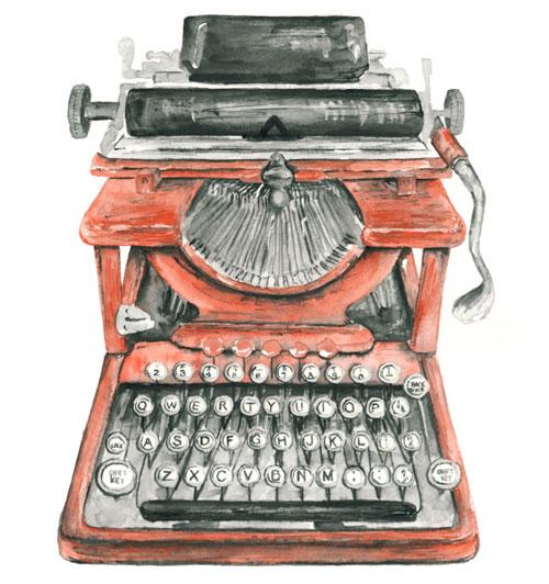 Drawn typewriter Anonymous Type & Time: Doodlers