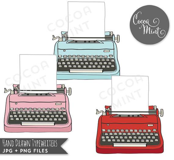 Drawn typewriter clipart Typewriters Clip Typewriters Drawn Hand