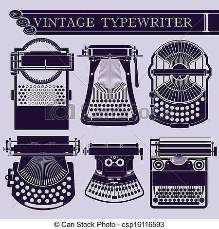 Drawn typewriter clipart Typewriter  I Art of