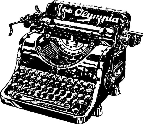 Drawn typewriter clipart Art svg Typewriter ( Free