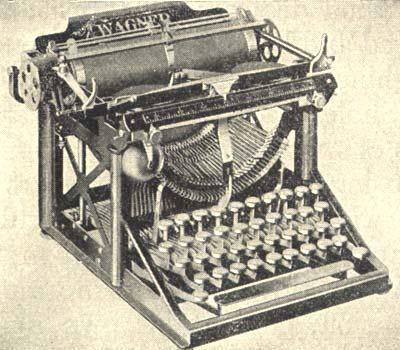 """Drawn typewriter first Machine first practical Life """"visible"""""""