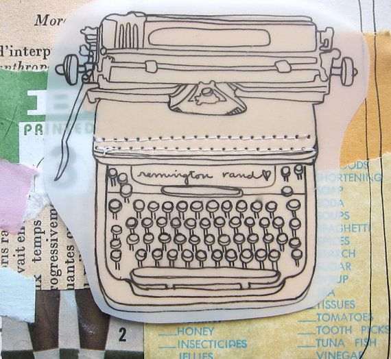 Drawn typewriter first Rand Collage Drawing Remington 536