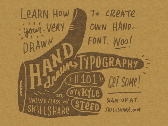 Drawn typography Font more learn skills those