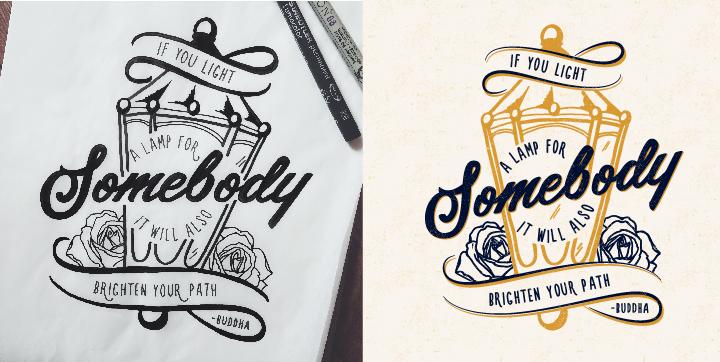 Drawn sign typographic Jenna Bresnahan typography Bresnahan Hand